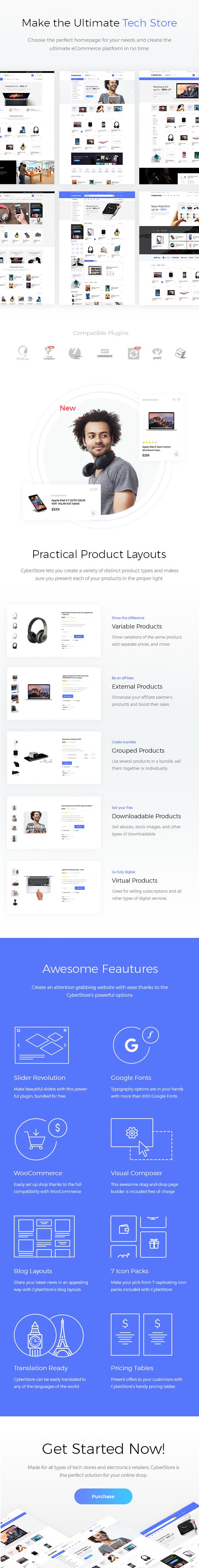 WordPress主题 CyberStore WooCommerce电子商务零售商的现代商城汉化主题[更新至v1.1]